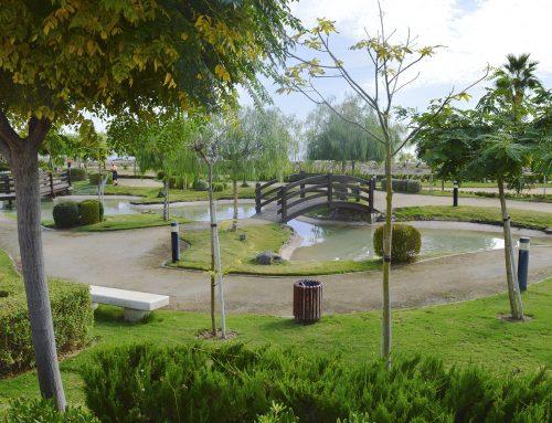 Jardines exteriores e interiores en Urbanización TM